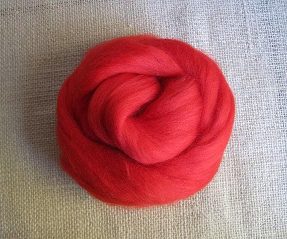 Sookie - Red Merino Top Fiber - 2.5 oz Cardinal Red