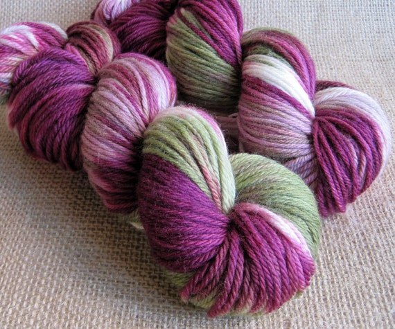 Kaylee - Superwash Merino Yarn - Worsted Weight - Hand Dyed - 220 yds