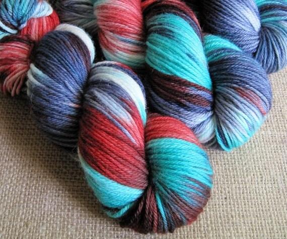 Zombie Flannel - SW Merino Yarn - DK Weight - Hand Dyed