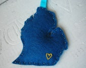 Michigan Eco Natural Ornament in Maize and Blue University of Michigan Wolverines Ann Arbor Go Blue ... Made in Michigan