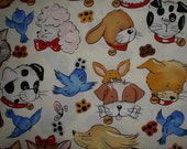 Yard of Alexander Henry Fabric Pip and Pals or Smitten Kitten