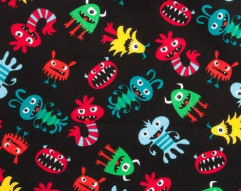 Monsters - Cotton - Black background