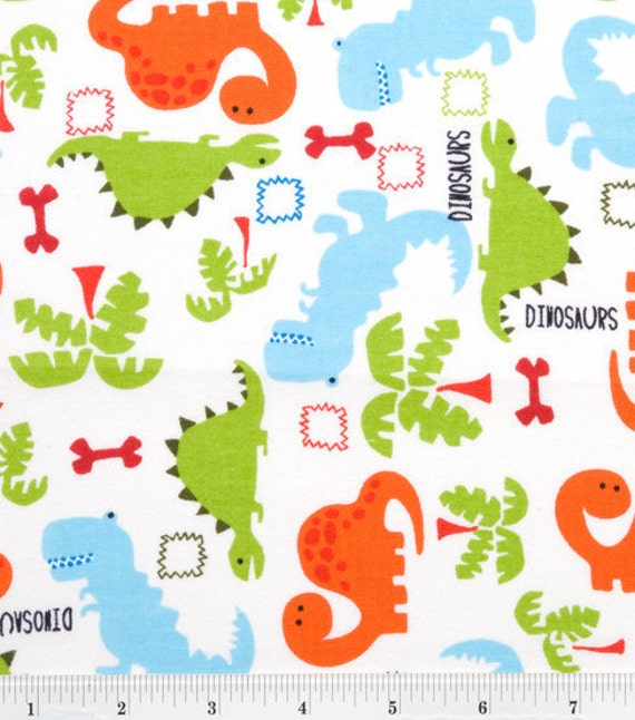 Sale dinosaur flannel fabric for Dinosaur fabric