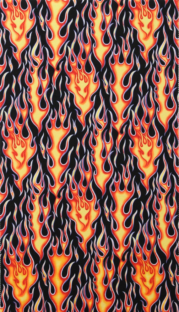 Alexander Henry - Nicoles Prints - Wheels on fire - Black / Red - Cotton Quilting Fabric - 52 inches - End of bolt
