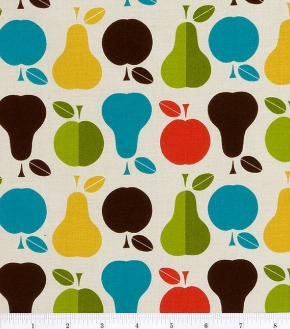 Pears and Apples Cotton fabric - 1 yard