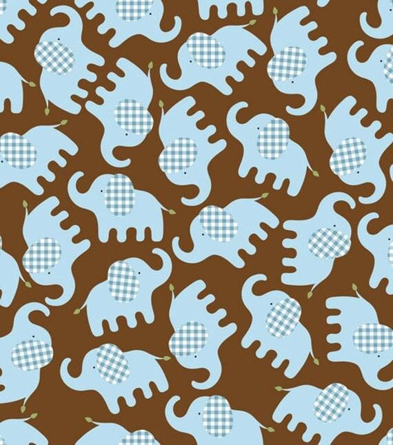 Sale baby boy elephants flannel fabric 1 yard for Elephant fabric