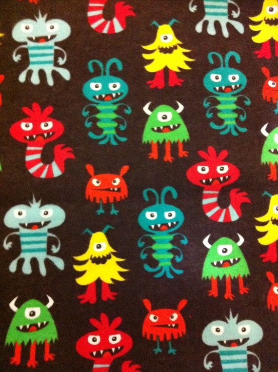 Reserved - Monsters - By the Yard - Flannel - 2 yards