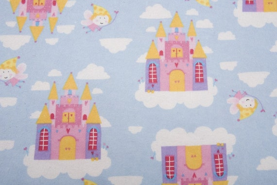 Sale - Fairy Castles - FLANNEL - 20 inches