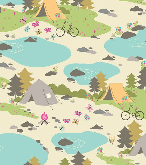 Camping Trip - Flannel - Fabric -  23 inches