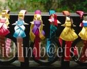 8 disney inspired princess clips or headband