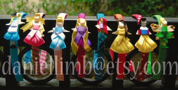 8 disney inspired princess clips or headband