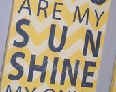 You Are My Sunshine My Only Sunshine... Typography Sign
