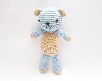 Crochet Teddy Bear, Stuffed Plush Bear