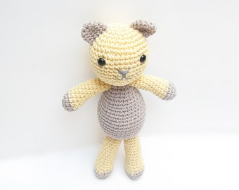 Toy Teddy Bear, Amigurumi Bear, Crochet Bear, Plush Teddy Bear