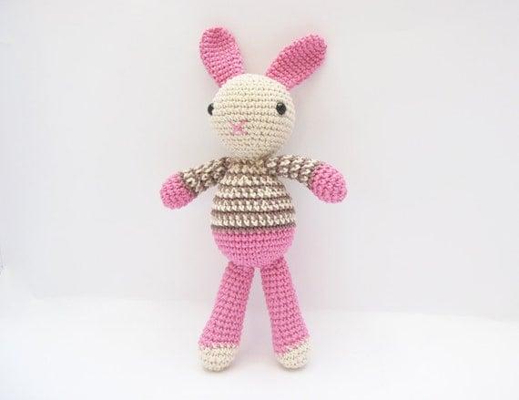 Easter Bunny Toy, Amigurumi Easter Bunny, Crochet Pink Toy, Crochet Bunny, Easter Gift for Kids