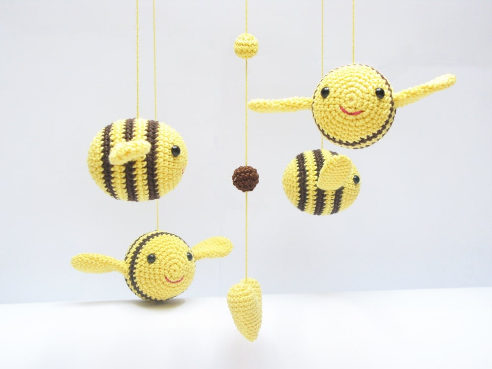 baby mobile bumble bee nursery mobile nursery baby shower