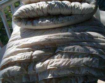 crib wool comforter / twin full queen wool comforter