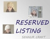Reserved List - Women knit hat