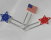 Stars and Stripes American Flag Paperclip bookmark