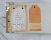 Colorbook Kolette Orange Quote Tag Set