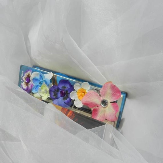 Flower Rhinestone PaperClip Bookmarks