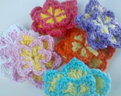 Lot of 18 Handmade Crochet Flower Appliques