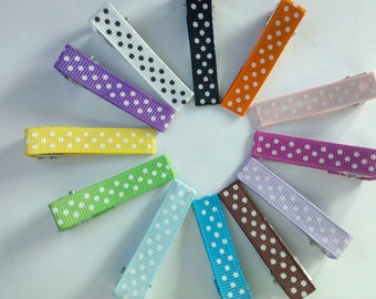 set of 100 Dot Partially Lined Double Prong Alligator Clips U Pick Color