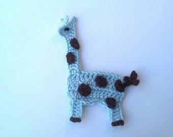 Crochet Giraffe Applique Handmade for scrapbooking/ flat back/ trim/ embellish