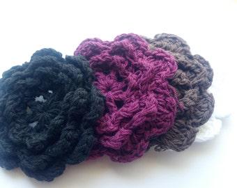 JUNE Summer SALE 20 Large Handmade Crochet Flower Appliques Sewing Bow