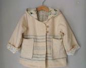 children jacket custom order, reindeer style handmade in pure wool