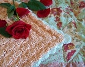 Rose Petals Square, Instant Download Crochet PDF pattern file. Afghan, baby blanket, dishcloth.