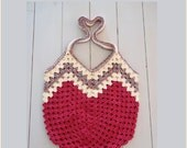 Granny Ripple Bag Crochet Pattern.  Make a purse, bag or tote.