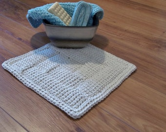 Log Cabin Entrelac Square or Rectangle Crochet pattern for dishcloth, afghan, bath mat, baby blanket,, etc... Make what you wish.
