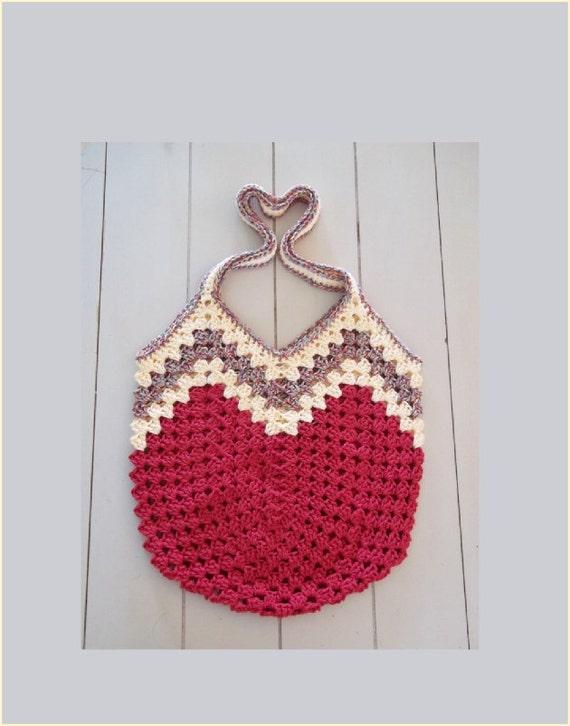 Granny Ripple Bag Crochet Pattern.  Instant Download in pdf format.