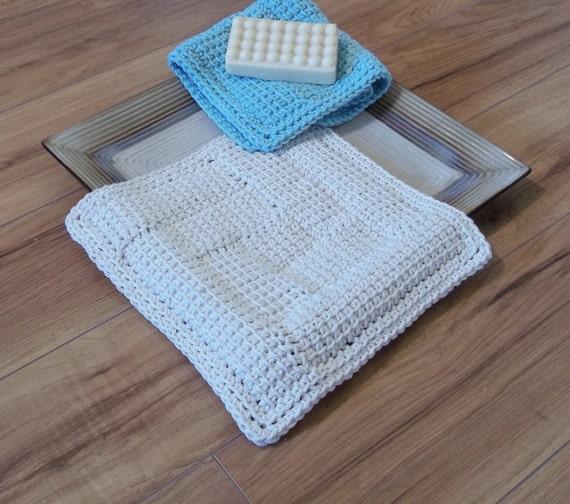 Entrelac Knitting Dishcloth Pattern : Log Cabin Entrelac Square or Rectangle Crochet pattern for dishcloth, afghan,...