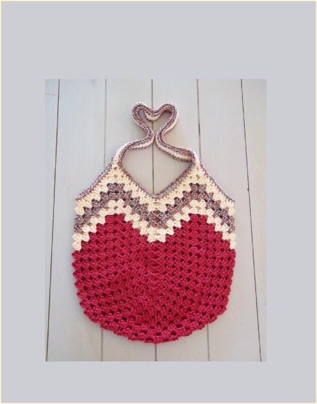 Granny Ripple Bag Crochet Pattern. Make a purse bag or tote.