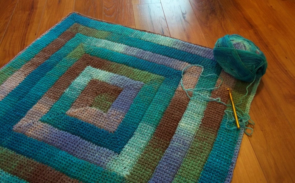 Simply spiraled crochet square or rectangle pdf by thehookhound