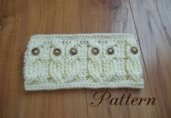 Crochet PATTERN-Its a Hoot An Owl Headband and Earwarmer