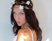 Fall Flower Crown, Amber & Jasim - MEADOW - wedding floral crown, Hair Flower, Headband Woodland, autumn,  yellow, wedding hair
