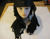 tattered edge deerskin faerie cap