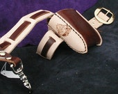 leather utility belt with one pouch