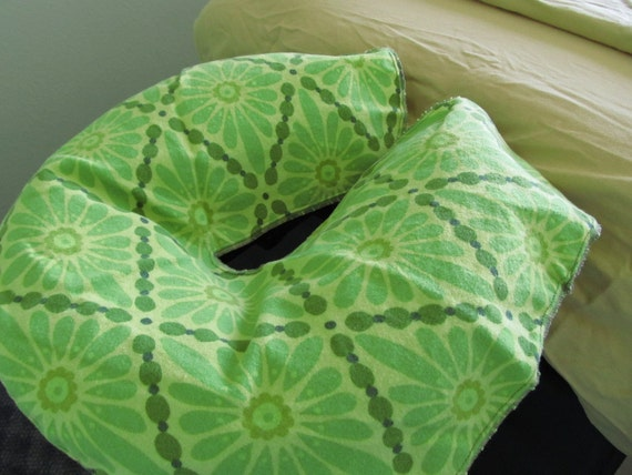 Massage Table Face Cradle Covers - Green Daisy - Handmade