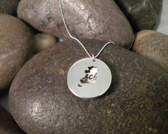 Custom Hand Stamped Sterling Silver SOUTH KOREA Locket Necklace Perfect for Adopting Mothers