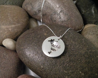 Custom Hand Stamped Sterling Silver BRAZIL Locket Necklace Perfect for Adopting Mothers