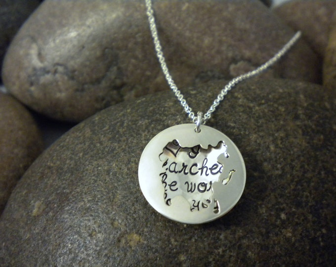 Custom Hand Stamped Sterling Silver ASIA Locket Necklace Perfect for Adopting Mothers