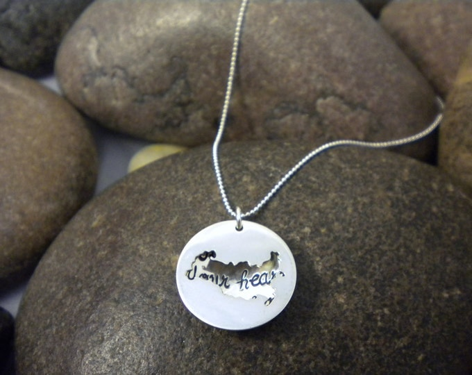 Custom Hand Stamped Sterling Silver RUSSIA Locket Necklace Perfect for Adopting Mothers
