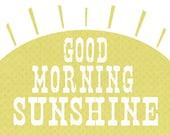 Reserved Listing for 911Franklin    Good Morning Sunshine 11 x 14  Giclee Art Print