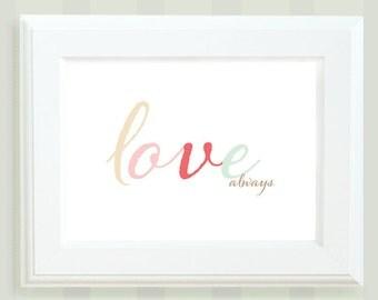 Wall Art, Love Always, Love Art, Love Poster