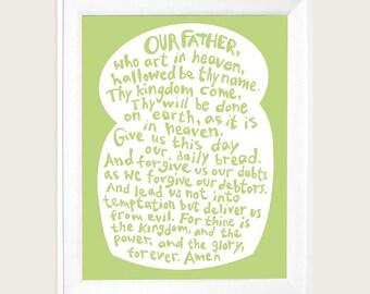 Lords Prayer Art,  Our Father Prayer, Faith Art