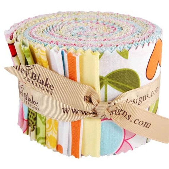 "SALE Sunny Happy Skies Rolie Polie Riley Blake- Jelly Roll 22- 2.5"" strips"